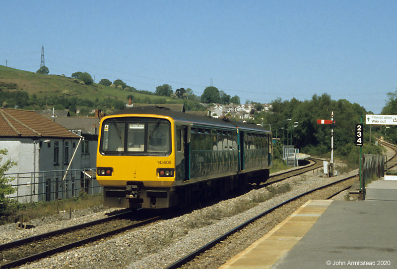 Class 143 at Abercynon