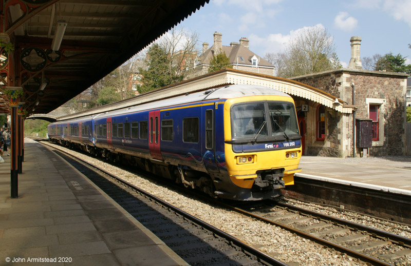 Class 166 at Great Malvern